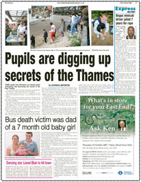 pupils are digging up secrets of the Thames